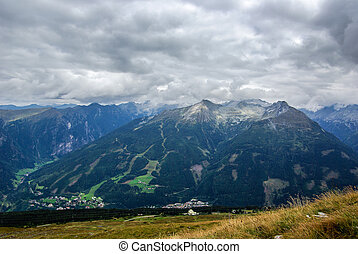 Mountainous landscape - View over a mountainous landscape a...