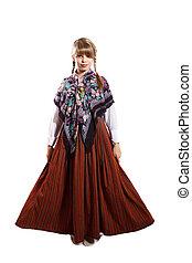 latvian national costume - Latvian girl in national costume...