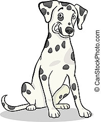 dalmatian purebred dog cartoon illustration - Cartoon...