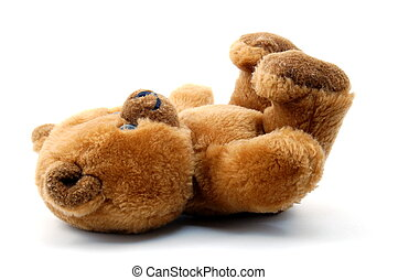 teddy bear isolated on white background - toy teddy bear...