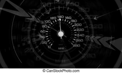 Speedometer - An energetic speedometer design. Composite...