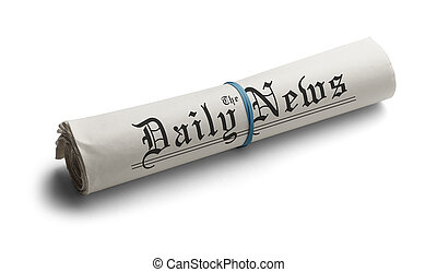 Generic Rolled Up Newspaper - Rolled Up Newspaper with...