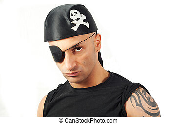 man in a pirate costume