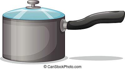 A pot - Illustration of a pot on a white background