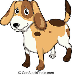 An adorable pet - Illustration of an adorable pet on a white...