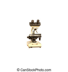 vintag Microscope isolated on white background