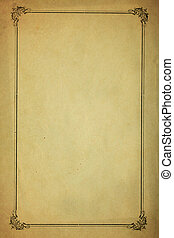 Old Blank Paper - Very Old Blank Paper Background With...