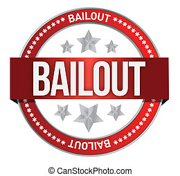 bailout seal illustration design over a white background