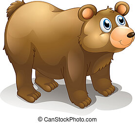 A big brown bear - Illustration of a big brown bear on a...