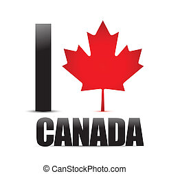 I love Canada on the maple pattern, illustration design