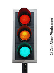 Traffic lights - traffic lights isolated on white background...