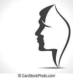 men women face stock vector