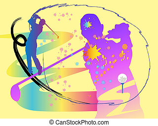 goft swing - art,background,abstract,man,swing,action,