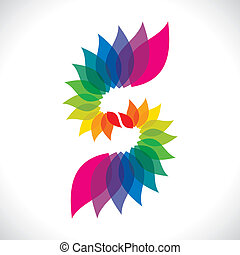 creative colorful leaf icon stock vector