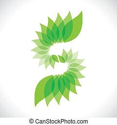 creative green leaf icon