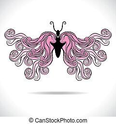 pink beautiful butterfly