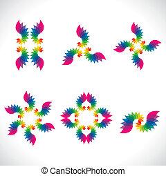 colorful lead design icon stock vector
