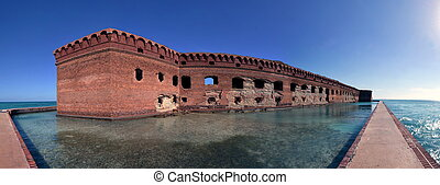 Fort Jefferson, Dry Tortugas National Park, Florida Keys -...