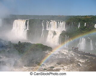 Iguassu Falls,South America - Iguassu Fall photographed from...