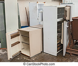 hazardous waste - fridges dump - hazardous waste - broken...