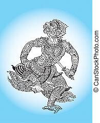 literature ramayana hanuman - buddha, detail, hanuman,...