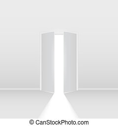 Double open door Illustration on white background for...