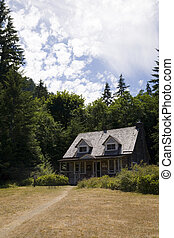 Log Cabin - A small log cabin in the Olympic Nation Park