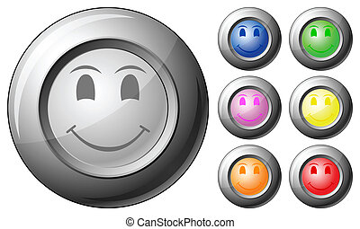 Sphere button smile