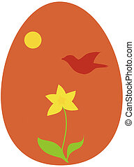 Easter or Ostara egg - Christian Easter or Wiccan Ostara egg