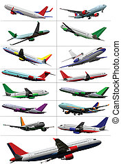 Big collection of  passenger airpla