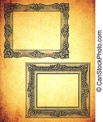 Frames on Old Paper