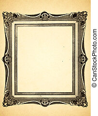 Old Paper with Decorative Frame