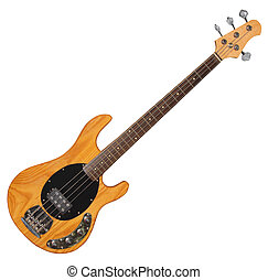 Bass Guitar - Electric Bass Guitar isolated on white...