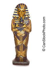 egípcio, múmia, caixão