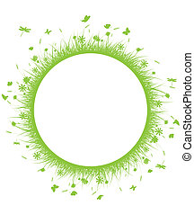 circle green grass - vector illustration of circle green...