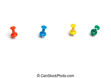 Colorful push pins - Set of push pins in different colors,...