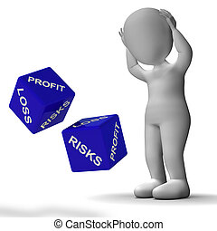 Profit And Loss Dice Shows Returns For Business