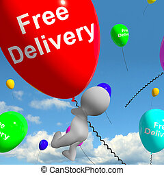 Free Delivery Balloons Showing No Charge Or Gratis To...