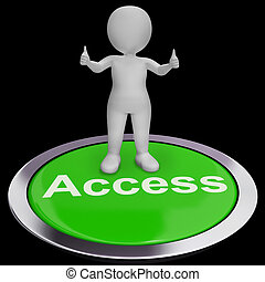 Access Button Shows Permissions Login And Security