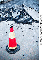 Traffic Cone - Preventing, restricting the movement of...