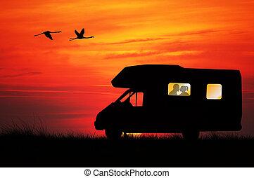 Caravan - People in caravan