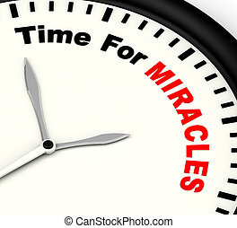 Time For Miracles Message Showing Faith In God - Time For...