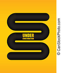 under construction background with special design