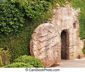 Entrance to the Tomb - The entrance of a replica of the tomb...