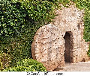 entrada, túmulo
