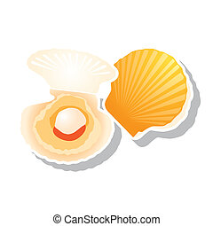 scallop vector - The abstract of scallop in vector style
