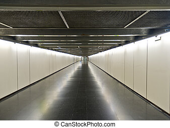 subway corridor - Underground station in Barcelona - nice...