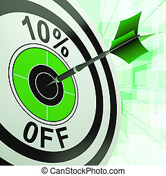 10 Percent Off Shows Discount Promotion Advertisement - 10...