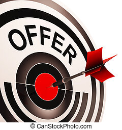 Offer Target Shows Discounts Reductions Or Sales - Offer...