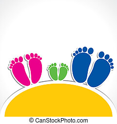 color foot print design stock vector